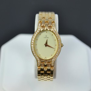 Ladies Concord Watch 14k Diamonds