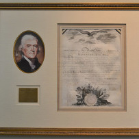 President Thomas Jefferson Signed Naval Appointment Feb 13th, 1809.
