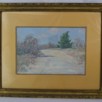 Porfirio Salinas Signed Oil on Canvas Texas Hill Country c.1930