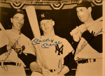 Joe DiMaggio - Mickey Mantle - Ted Williams - Signed Photograph - Image