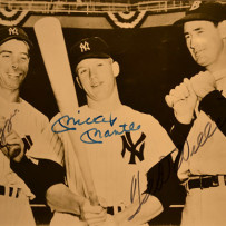 Joe DiMaggio, Mickey Mantle & Ted Williams Signed Photograph