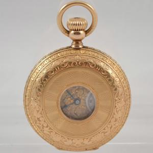 H. Grandjean & Co 18kt Gold Pocket Watch Half Hunter Savonnette - Image