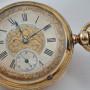 Grandjean & Co 18kt Gold Pocket Watch Half Hunter Savonnette - Image 3