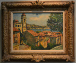 Harry B. Lachman Oil on Canvas - Villa Franche Sur Mer - c 1957 - Image