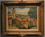 Harry B. Lachman Oil on Canvas - Villa Franche Sur Mer - c 1957 - Image