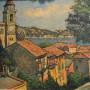 Harry B. Lachman Oil on Canvas - Villa Franche Sur Mer - c 1957 - Image 1