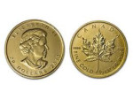 Canadian Maple Leaf Gold Coin - Image