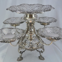 Edwardian Sterling Silver Epergne James Dixon & Sons, Sheffield c.1908