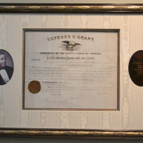 President Ulysses S. Grant Signed Postmaster Appointment c.1875