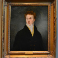 Sir Thomas Lawrence Oil on Canvas Portrait of Brice Pearse, Early 19th Century.