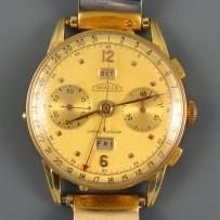 Rare Angelus 18k Gold Chrono-Datolux Triple Date Chronograph Watch