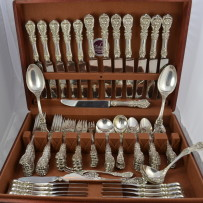 100pc Reed & Barton Francis 1st Sterling Silver Flatware Set