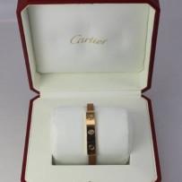 "Cartier 18k Gold & Leather ""Love""  Bracelet"