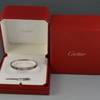 Cartier 18k White Gold LOVE Bracelet