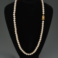 Gorgeous Mikimoto Matinee length Pearl Necklace 24″