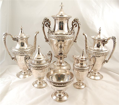 Gorham-Sterling-Silver-Tea-Set