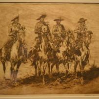 "Edward Borein Signed Original Limited Etching & Drypoint ""Four Horsemen"""