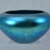 Large Steuben Blue Aurene Glass Bowl c.1910