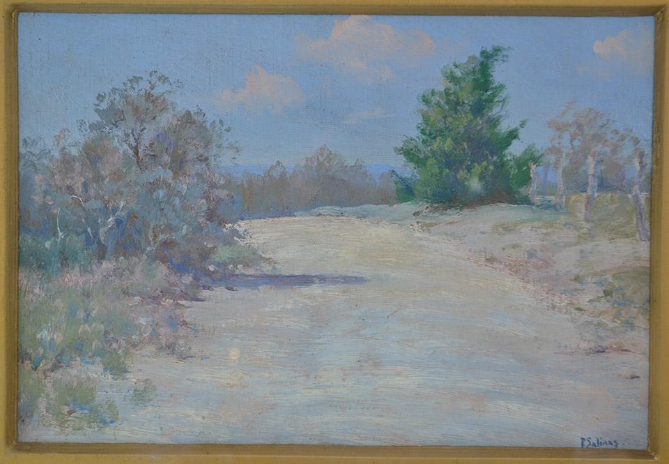 Porfirio Salinas Signed Oil On Canvas Texas Hill Country C
