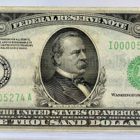 1934 $1000 Federal Reserve Note Minneapolis XF