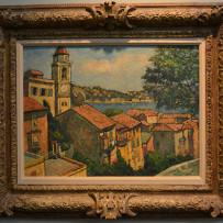"Harry B. Lachman Oil on Canvas ""Villa Franche Sur Mer"" c.1957"