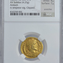 Eastern Roman Empire Valens (364-378 AD) Solidus Ancient Gold Coin