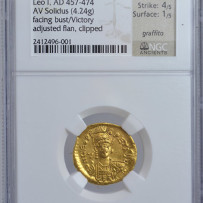 Eastern Roman Empire Leo I (457-474 AD) AV Solidus Ancient Gold Coin.