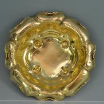 Rare Gorham Martele Art Nouveau Sterling Silver Gilt Bowl c.1899