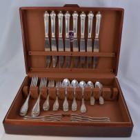 Puiforcat Elysee Sterling Silver Flatware Set For (8)