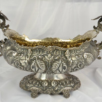 Huge South American Two Handled Sterling Silver Jardiniere