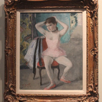 Francois Gall Signed Original Oil on Canvas Painting Ballerina Paris 1930's