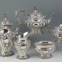 Gorham Grand Chantilly Sterling Silver 5 piece Tea Service