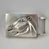 Vintage Barry Kieselstein-Cord Sterling Silver Horse Belt Buckle