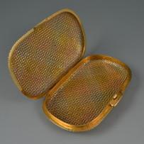 Rare Vintage Bvlgari 18k Multi-Colored Solid Gold Purse