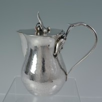 """Carl Poul Petersen Sterling """"Blossom"""" Pitcher Hand Hammered Silver"""