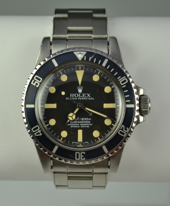 Vintage Rolex Submariner 5512 No Date Stainless Steel Watch