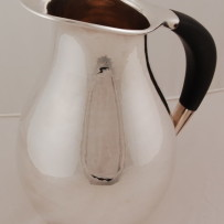 Worden-Munnis Sterling Silver Water Pitcher Hand Hammered Moderne c.1955