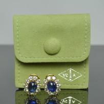 Classic Van Cleef & Arpels Sapphire & Diamond Earrings